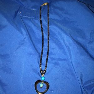 Handmade turquoise heart pendant necklace